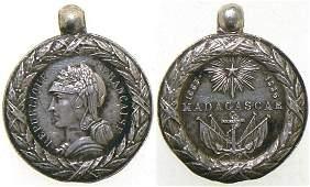 Madagascar 18831886 Campaign Medal 1st republic