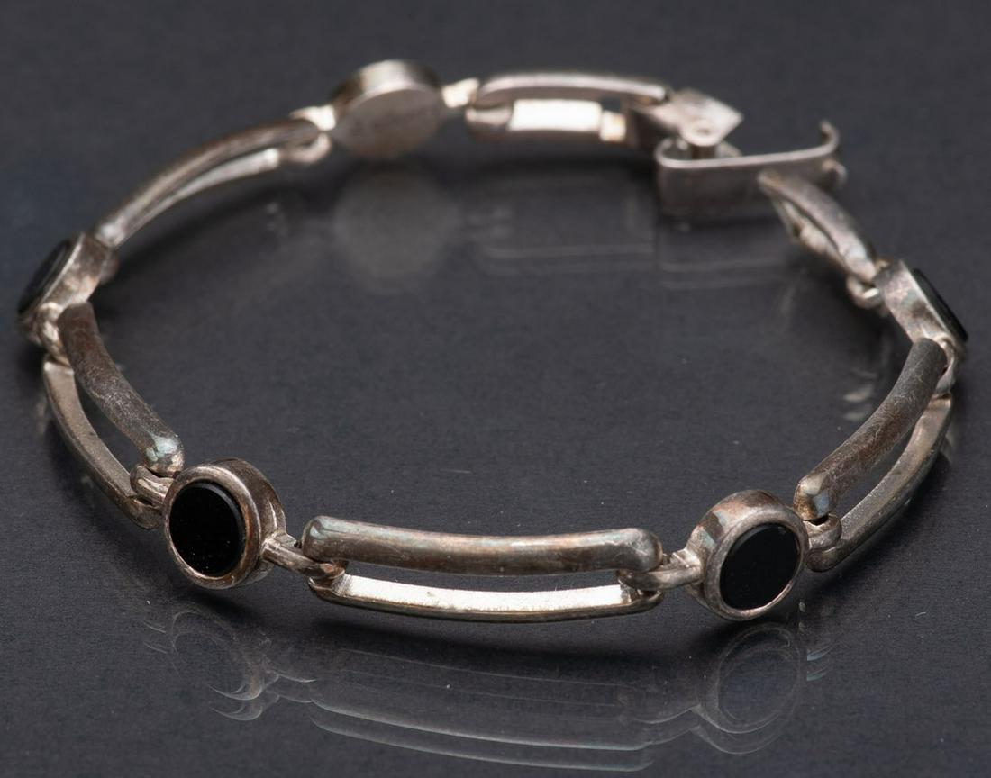 Silver mesh bracelet