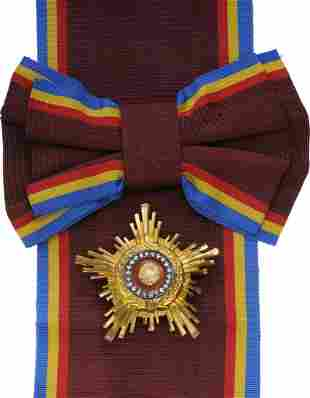RSR - ORDER OF THE STAR OF ROMANIA in GOLD, instituted