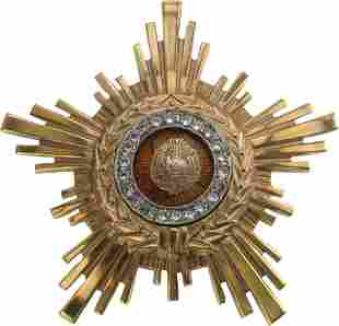 RSR - ORDER OF THE STAR OF ROMANIA, instituted in 1948,