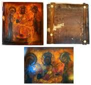 A rare Russian Icon, Representation of the Deisis