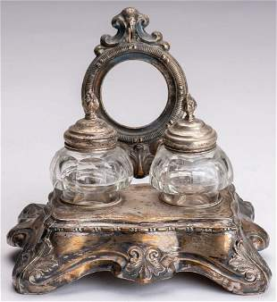 Cabinet set on silver stand