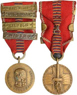 The Cruisade Against Communism Medal with 4 bars,