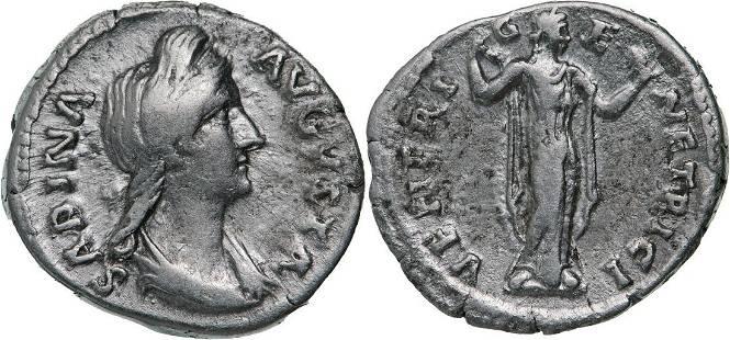 Sabina (119-137 AD), AR Denar (2.92g), Rome