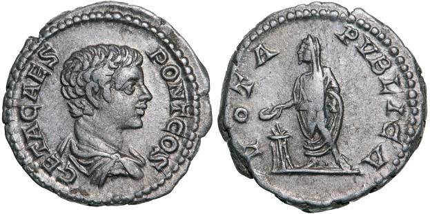 Geta (198-209 AD), AR Denarius (3.15g), struck 205 AD,