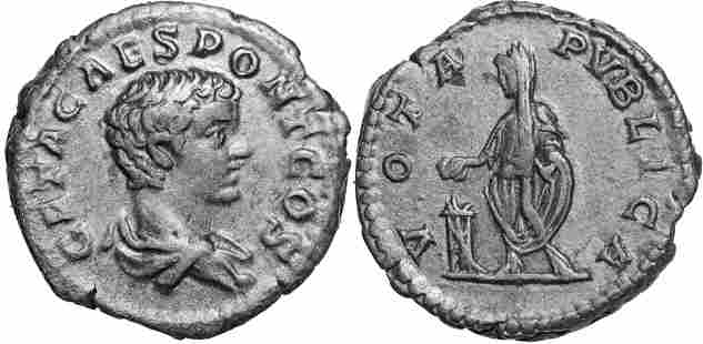 Geta (198-209 AD), AR Denarius (2.94g), struck 205 AD,