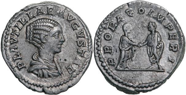 Plautilla (202-205 AD), AR Denarius (3.28g), Rome