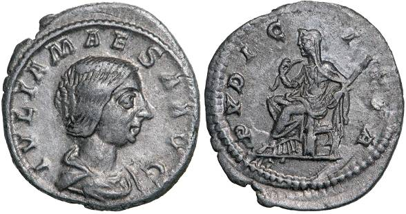 Julia Maesa (218-224 AD), AR Denarius (2,5g), Rome