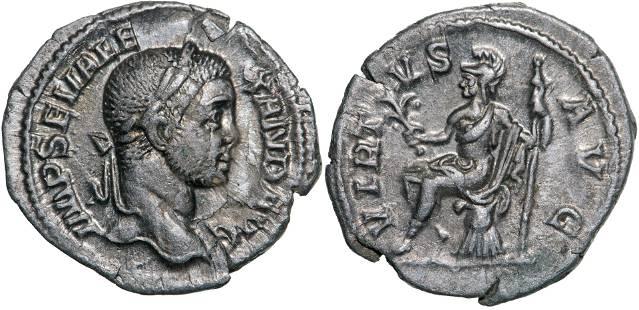 Severus Alexander (222-235 AD), AR Denarius (2.36g)