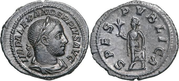 Severus Alexander (222-235 AD), AR Denarius (2.54g),