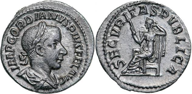 Gordian III. (238 -244 AD), AR Denarius (2.9g), struck