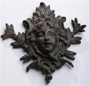 Part of bronze door knocker