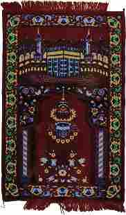 Wool Muslim prayer rug