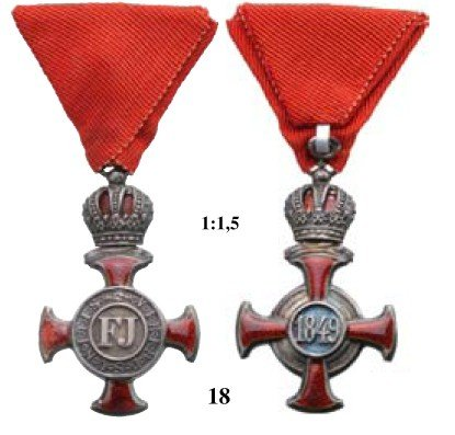 18: Silver Cross of Merit with Crown