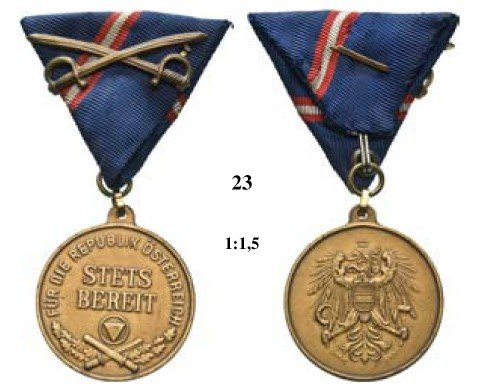 23: Military Merit Medal, 1st Republic (1920-1938)