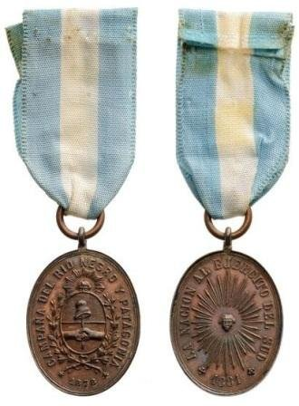 Rio Negro and Patagonia Campaign Medal Bronze Medal ins