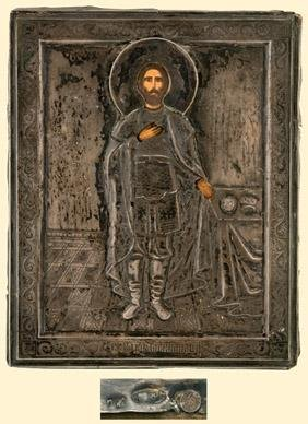 Russian icon of SAINT ALEXANDER NEVSKY