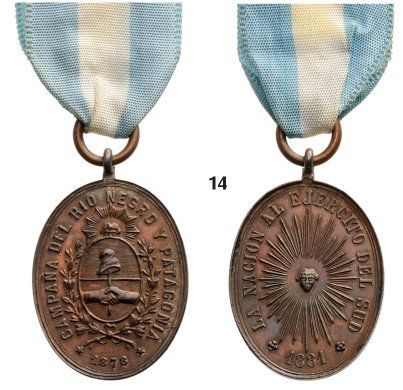 Rio Negro and Patagonia Campaign Medal, Bronze Medal, i