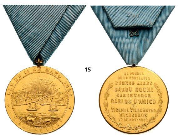 La Plata, Commemorative Medal, instituted in 1882