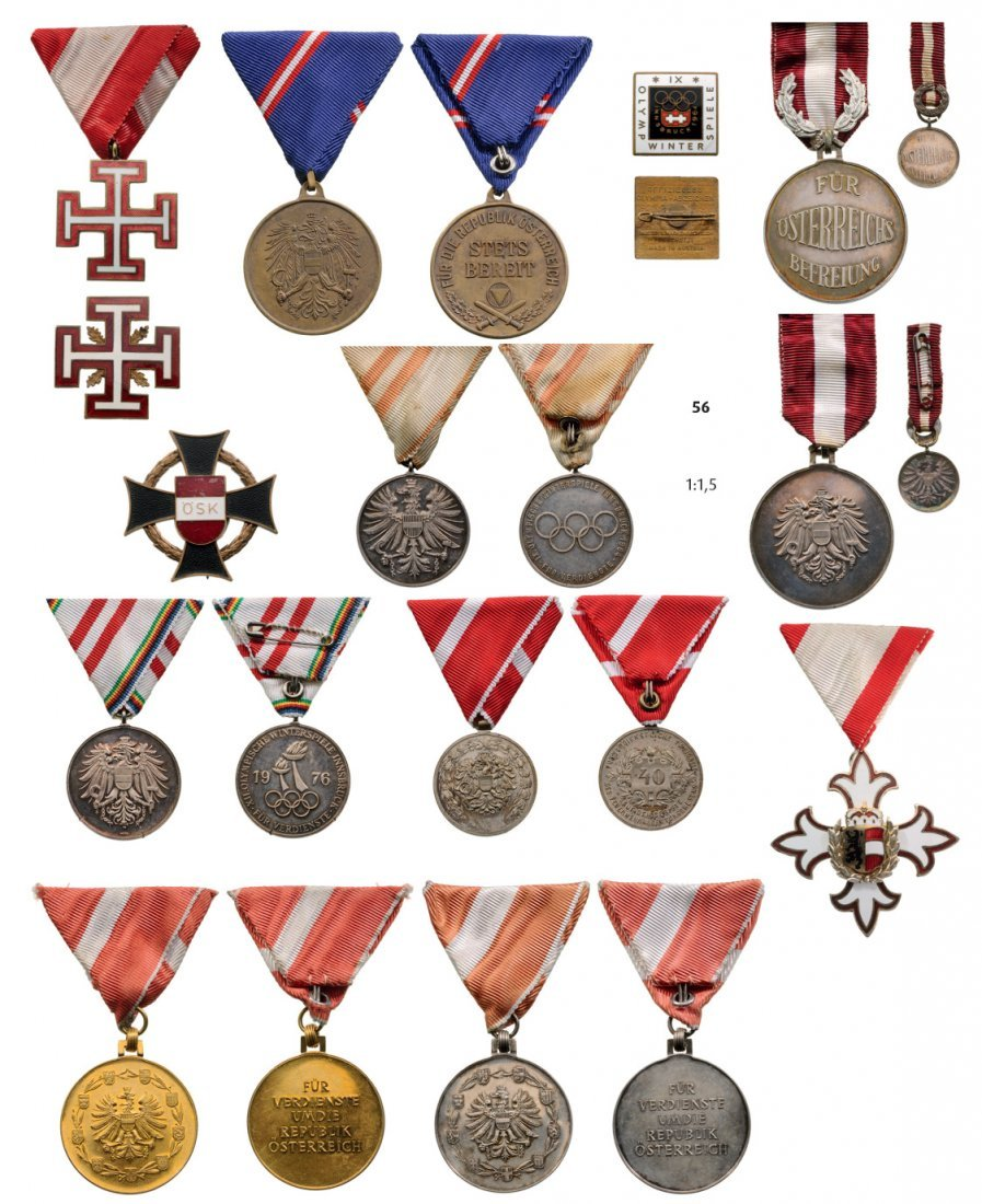 2nd Republic, 12 different Medals