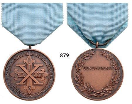 Bene Merenti, Bronze Medal.