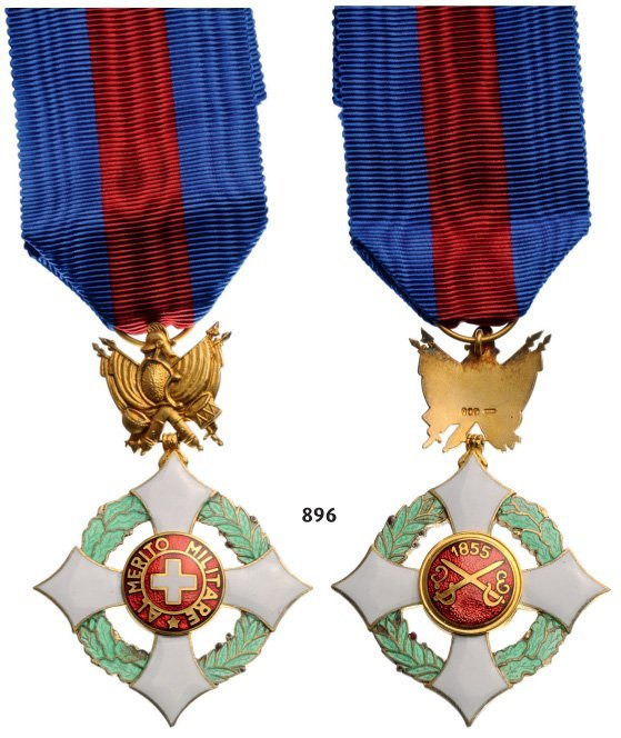 MILITARY ORDER OF SAVOIA, 1855