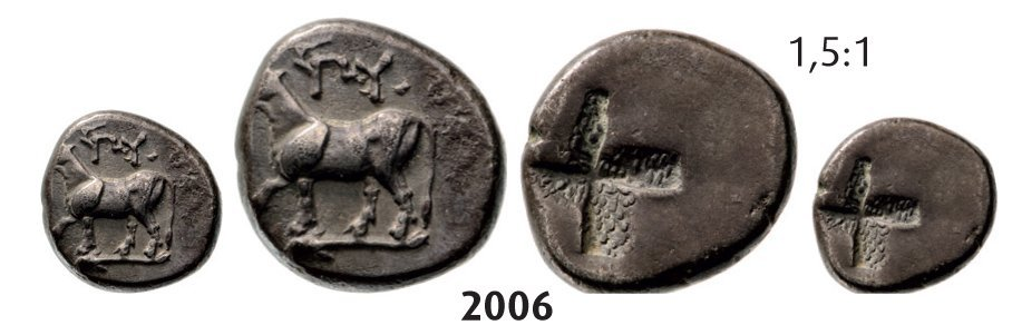 Half-Siglos, Silver (2.43g) Obv.