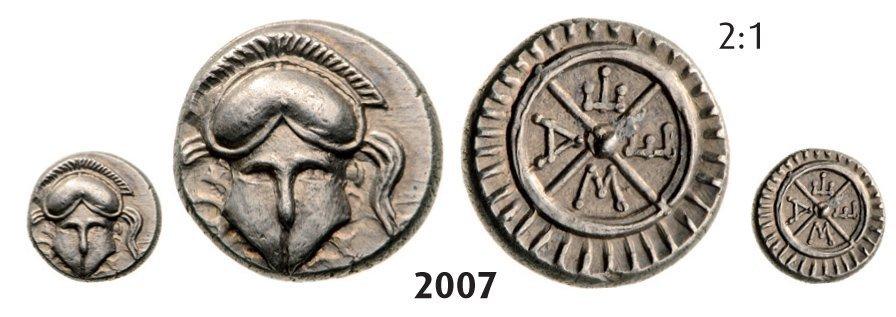 Diobol, Silver (1.26g) Obv.