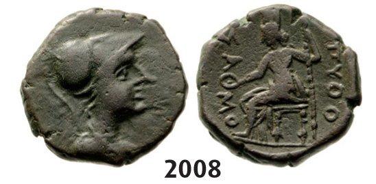 Æ (Struck 3rd – 2nd cent. BC) Bronze (6.34g) Obv