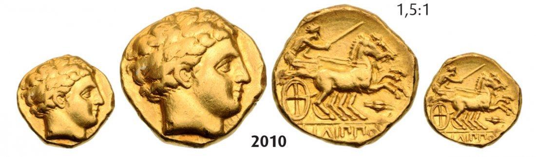 Philip II, 359-336 BC Stater (Struck 336-328 BC) Amphip