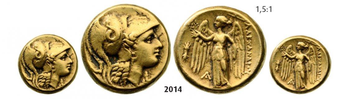Double Stater, Aegae, GOLD (17.59g) Obv.