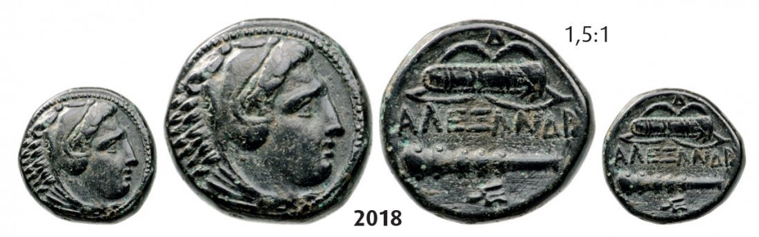 Æ (Struck 336-323 BC) Uncertain mint, Bronze (6.55g) Ob