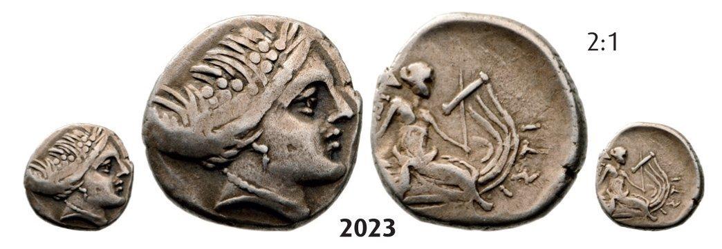 Histiaia Tetrobol (Struck 369-346) Silver (1.64g) Obv