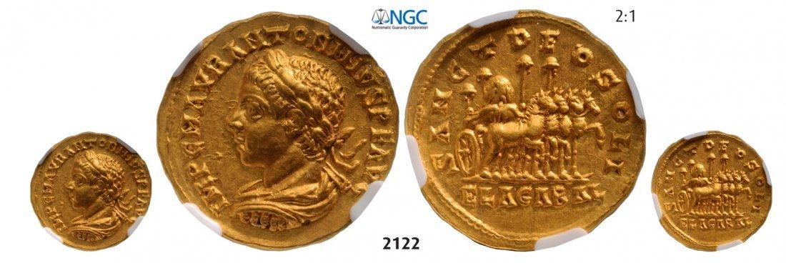Aureus (Struck 218-219 AD) Antioch, GOLD (7.10g) Obv.