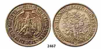 5 Reichsmark 1928-G, Karlsruhe, Silver (25.02g) Obv.