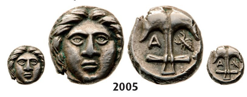 Diobol (Struck 400-350 BC) Silver (1.21g)