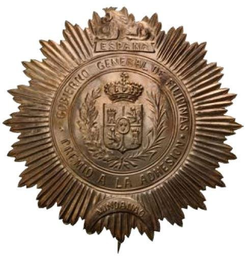 Badge for Spanish Official (Police Forces in Mindanao)