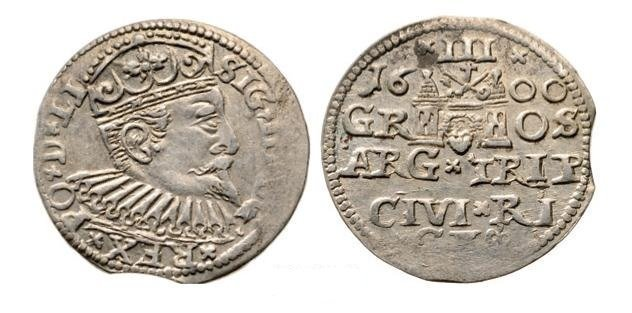 3 Groschen (Trojak) 1600, Riga