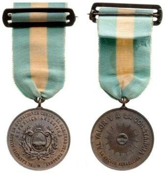 Medal for Allies in the Paraguyan War, Bronze Medal,