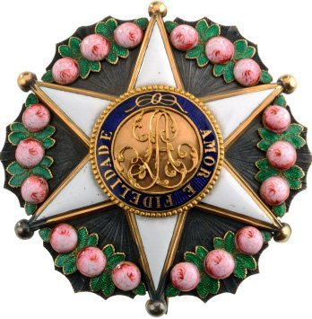 IMPERIAL ORDER OF THE ROSE Officer's Star, 4th Class,