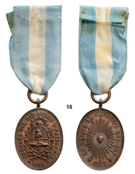 RIO NEGRO AND PATAGONIA CAMPAIGN MEDAL
