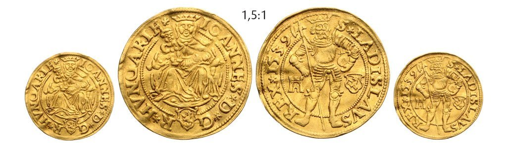 Ducat 1539, Klausenburg (Cluj), Gold, 3,46 g.