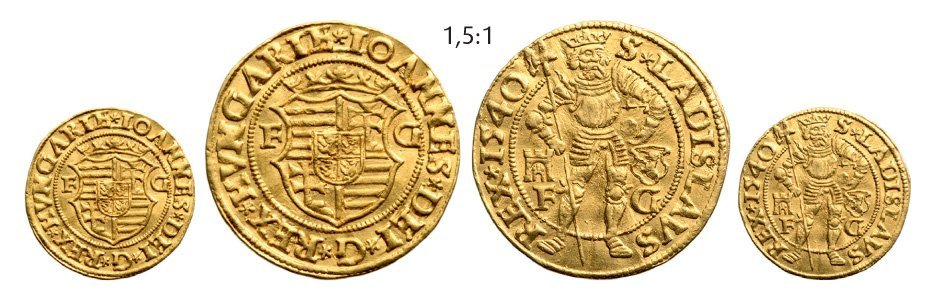 Ducat 1540, Klausenburg (Cluj), Gold, 3,52 g