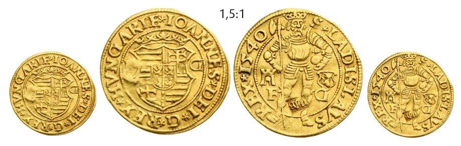 "Ducat 1540, ""countermarked"", Klausenburg (Cluj), Gold,"