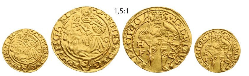Ducat 1540, Hermannstadt (Sibiu), Gold, 3,48 g.