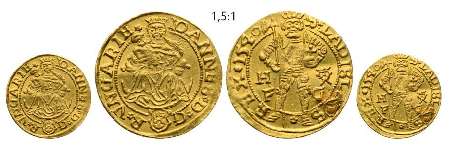 Ducat 1540, Hermannstadt (Sibiu), Gold, 3,56 g.