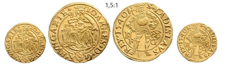 Ducat 1540, Klausenburg (Cluj), Gold, 3,58 g.