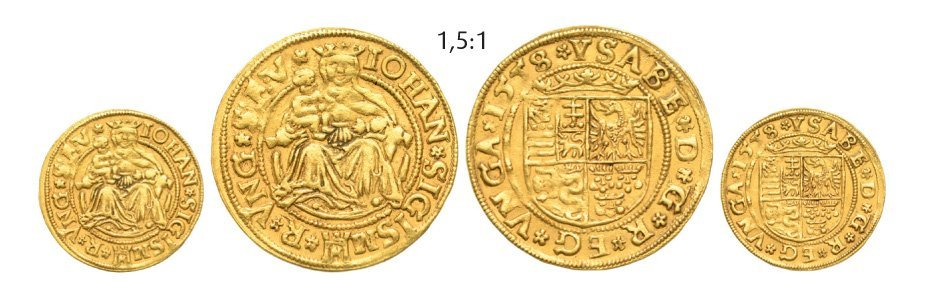 Ducat 1558, Klausenburg (Cluj), Gold, 3,52 g