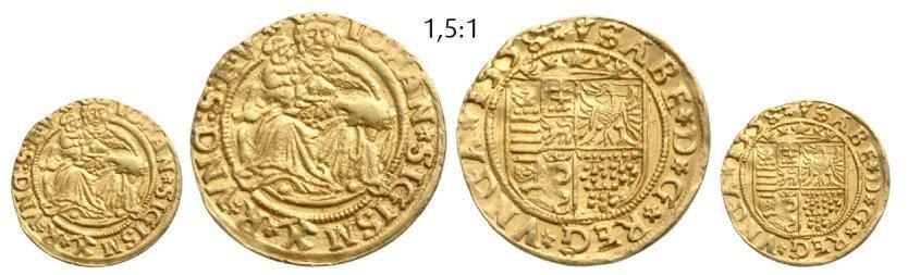 Ducat 1558, Neustadt (Baia Mare), Gold, 3,28 g