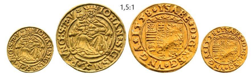 Ducat 1558, Neustadt (Baia Mare), Gold, 3,52 G.